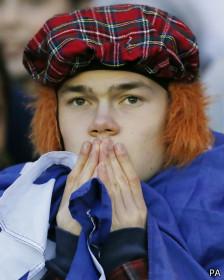 Un aficionado escocés