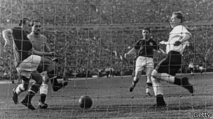 Inglaterra vs. Hungría en 1954