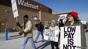Protestas en Walmart