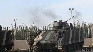 Un tanque del ejército