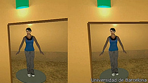 Imagen del experimento en realidad virtual