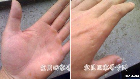 Fotos de las manos de Luo