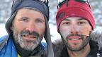 Juan Menéndez Granados (der.) y Bengt Rotmo en Groenlandia