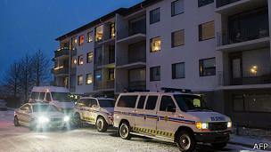 Edificio donde ocurrió el hecho en Islandia