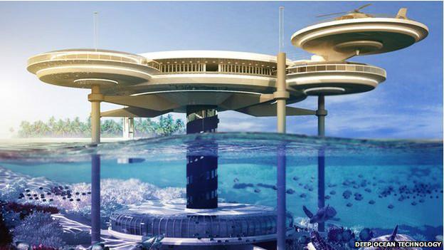 projeto de hotel subaquático da Deep Ocean Technology