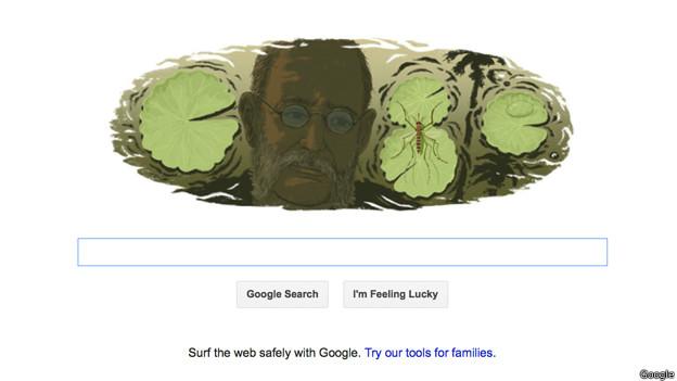 Carlos Finlay como el doodle de Google