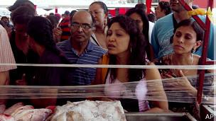Mercado al aire libre en Venezuela