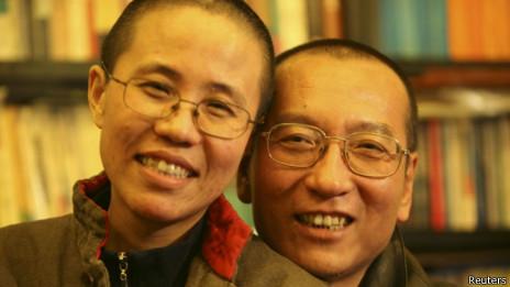 刘晓波和刘霞(资料照片)