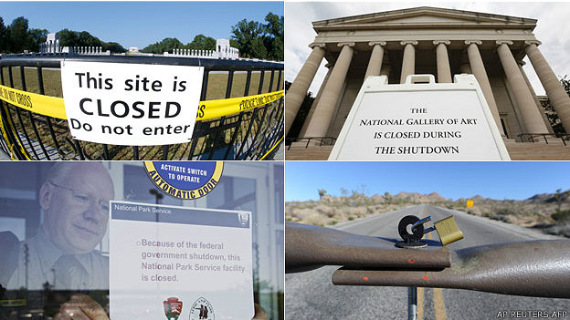 Monumentos, parques y servicios cerrados por la paralización
