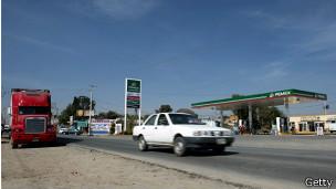Gasolinera en la que el camión fue robado