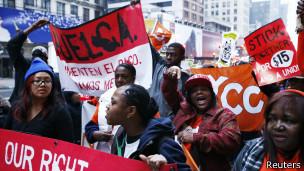 Huelga en Nueva York