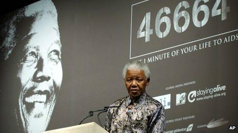 曼德拉發起抗艾滋運動