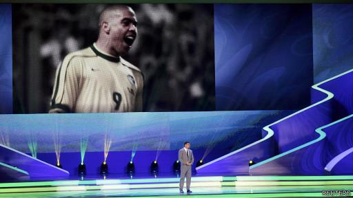 Ronaldo en la ceremonia