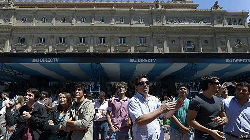 Un grupo de argentinos