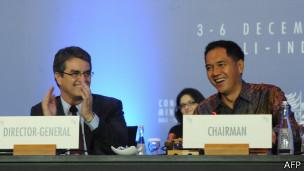 Azevêdo y Gita Wirjawan en la reunión de Bali