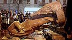 Estatua de Lenin derribada