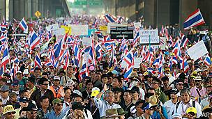 Protesta en Bangkok