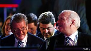 Roy Hodgson y Greg Dyke