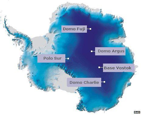 Mapa de Antártica