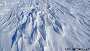 Sastrugi en Antártica