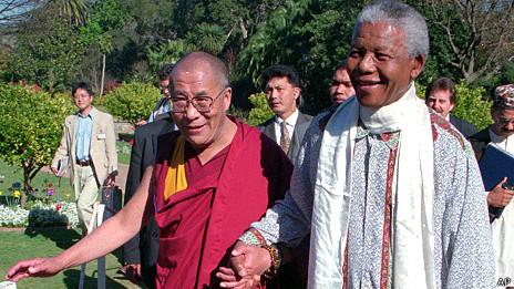 Dalai Lama, Nelson Mandela