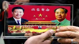 习近平与毛泽东画像