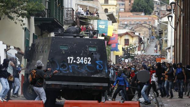 Protestas estudiantiles en Bogota