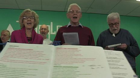 Grupo de canto de pacientes con EPOC