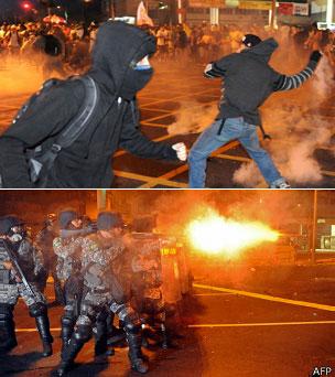 Violencia en las protestas de Brasil