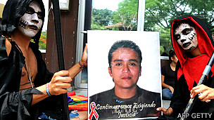 Protestas en Honduras por el asesinato de Walter Trochez