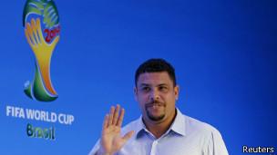 Ronaldo no sorteio da Copa do Mundo / Crédito da Foto: Reuters