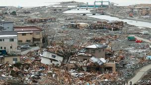 Devastación por el terremoto en Japón