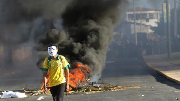Protestos no Brasil. AP