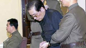 Jang Song-Thaek al ser detenido
