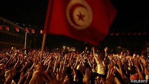 Manifestacion en Tunez