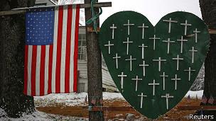 Homenaje a las víctimas de Sandy Hook