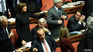 Дебаты в итальянском сенате