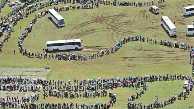 Enterro de Nelson Mandela | Crédito: AP