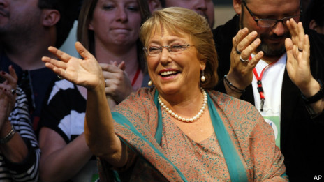 Michelle Bachelet, presidente do Chile. AP