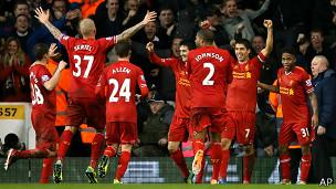 Jugadores del Liverpool