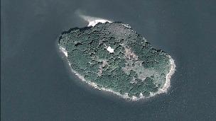 Isla Conejo, en disputa entre El Salvador y Honduras. Cortesía Secretaría de Relaciones Exteriores de Honduras