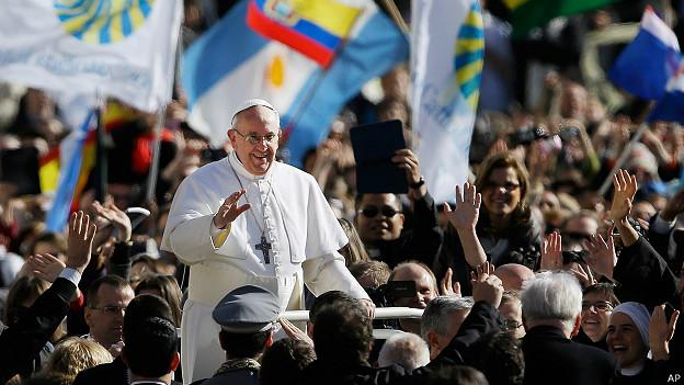 Ceremonia de entronización del papa Francisco