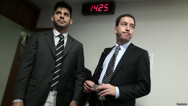 David Miranda (à esq.) e Glenn Greenwald (à dir.) - foto: Reuters