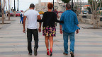 Una mujer y dos hombres  (Foto: Raquel Pérez)