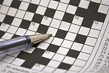 a crossword puzzle