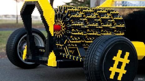 Motor hecho de Lego