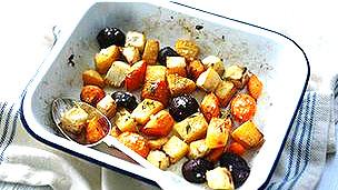Fuente con verduras asadas