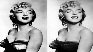 Foto retocada de Marilyn Monroe