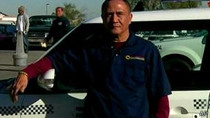 Taxista Gerardo Gamboa. Foto: AP/ reprodução de vídeo