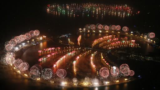 Kembang api di Dubai